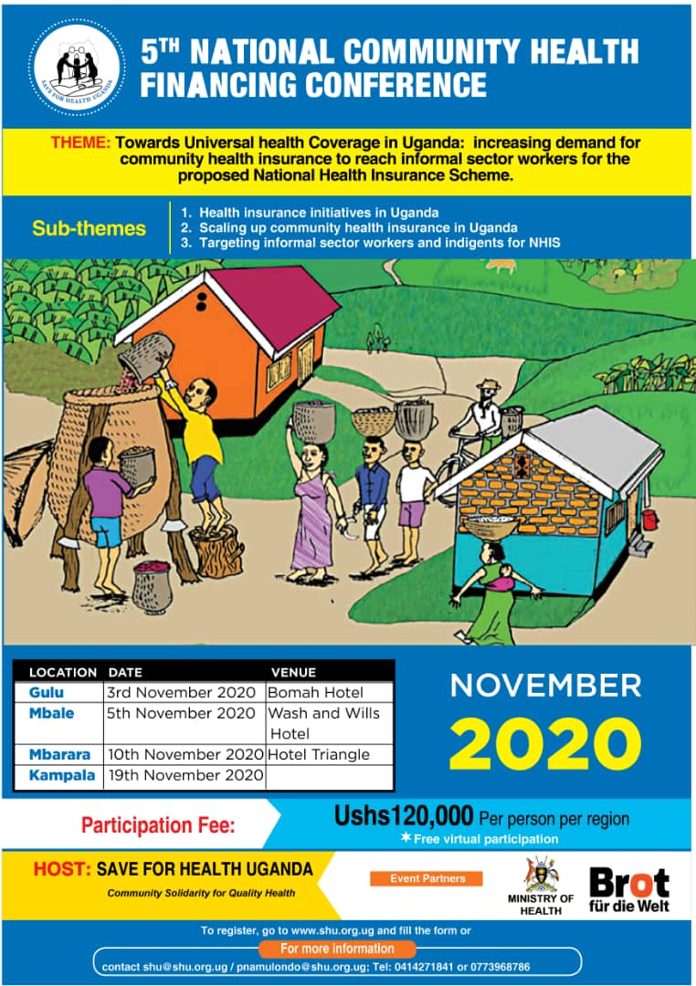 5th National Community Health Financing Conference 3rd To 19th November